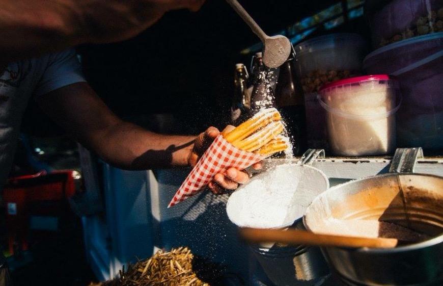foodtrucks met desserts Churrosbus