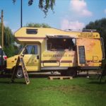 Foodtruck met pannenkoeken truck